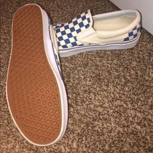 Men's Blue Checkered Vans